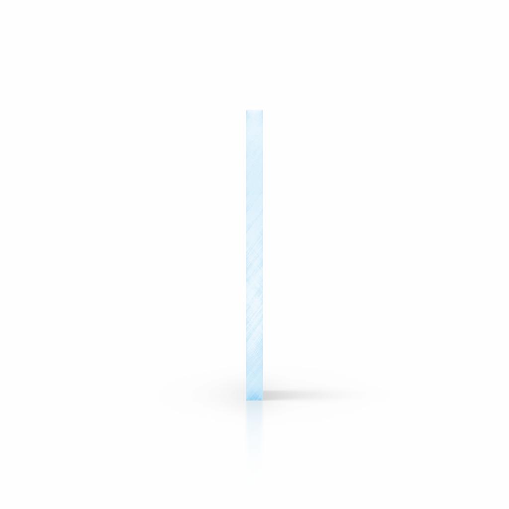 Cote plaque plexiglass fluorescent bleu