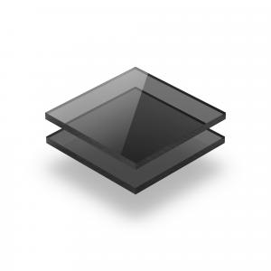 Plaque polycarbonate teinté gris