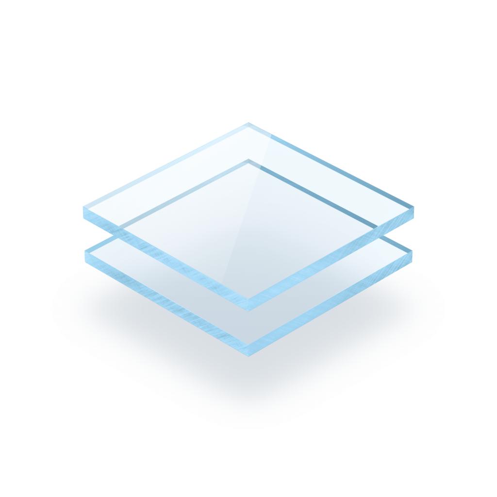 Plexiglass fluorescent bleu