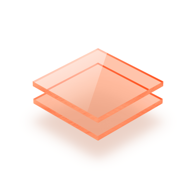 Plexiglass fluorescent orange