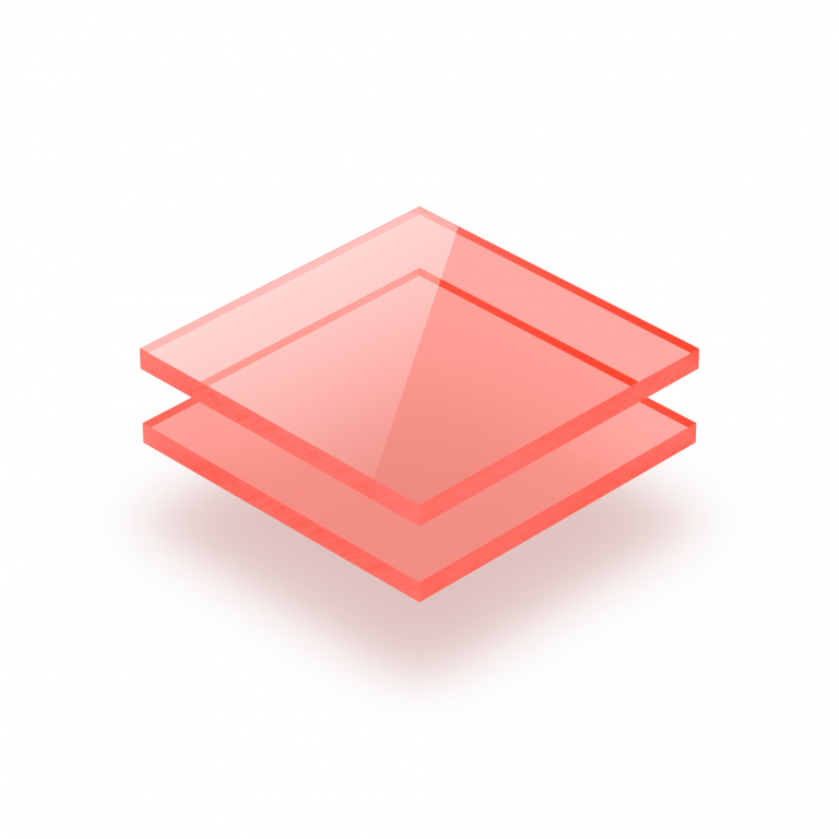 Plexiglass fluorescent rouge