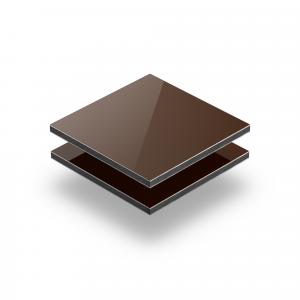 Panneau composite aluminium brun