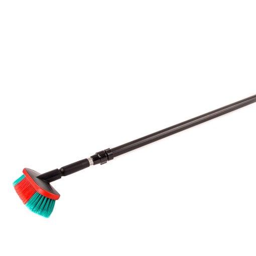 Brosse de nettoyage avec manche télescopique (163 à 275 cm)