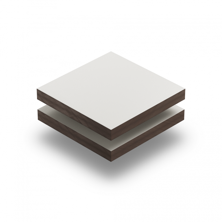 Panneau HPL structuré blanc crème