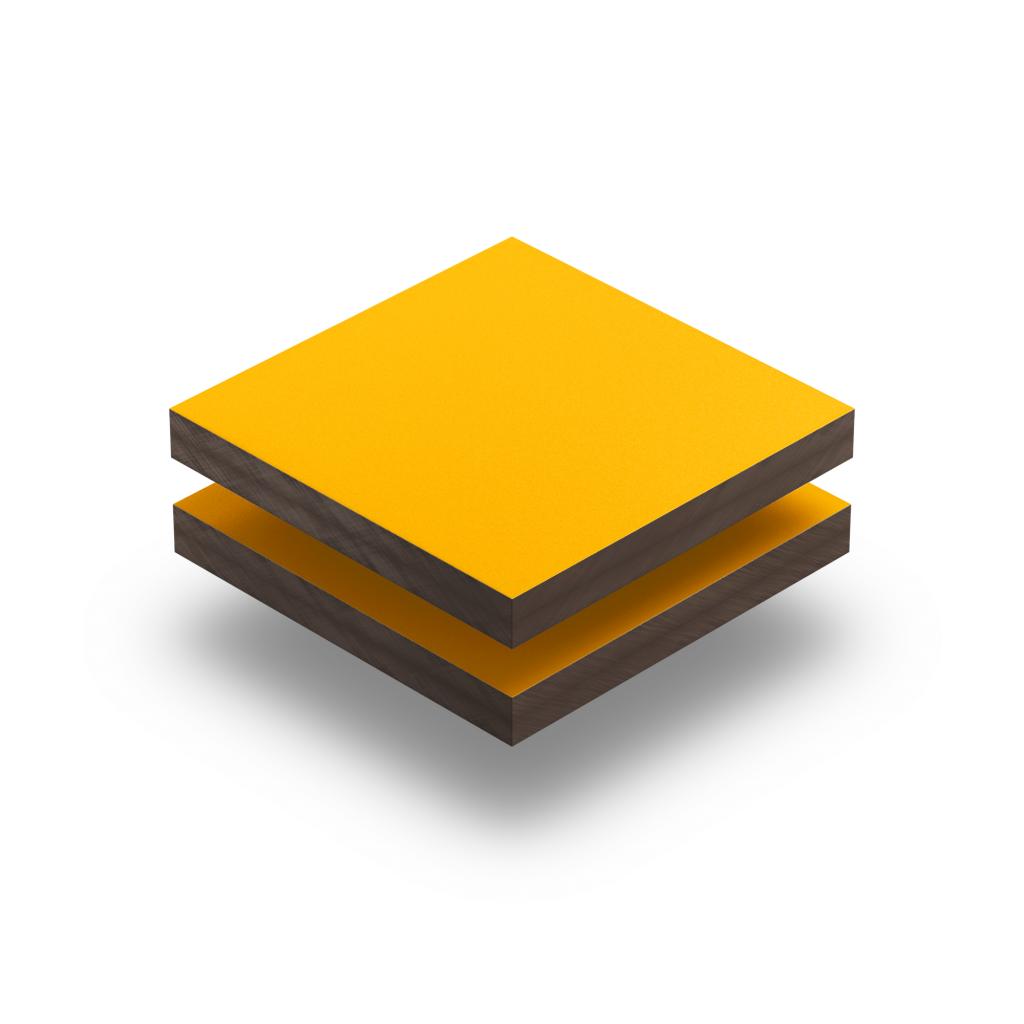 Panneau HPL structuré jaune de sécurité