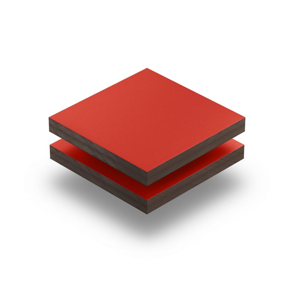 Panneau HPL structuré rouge signalisation