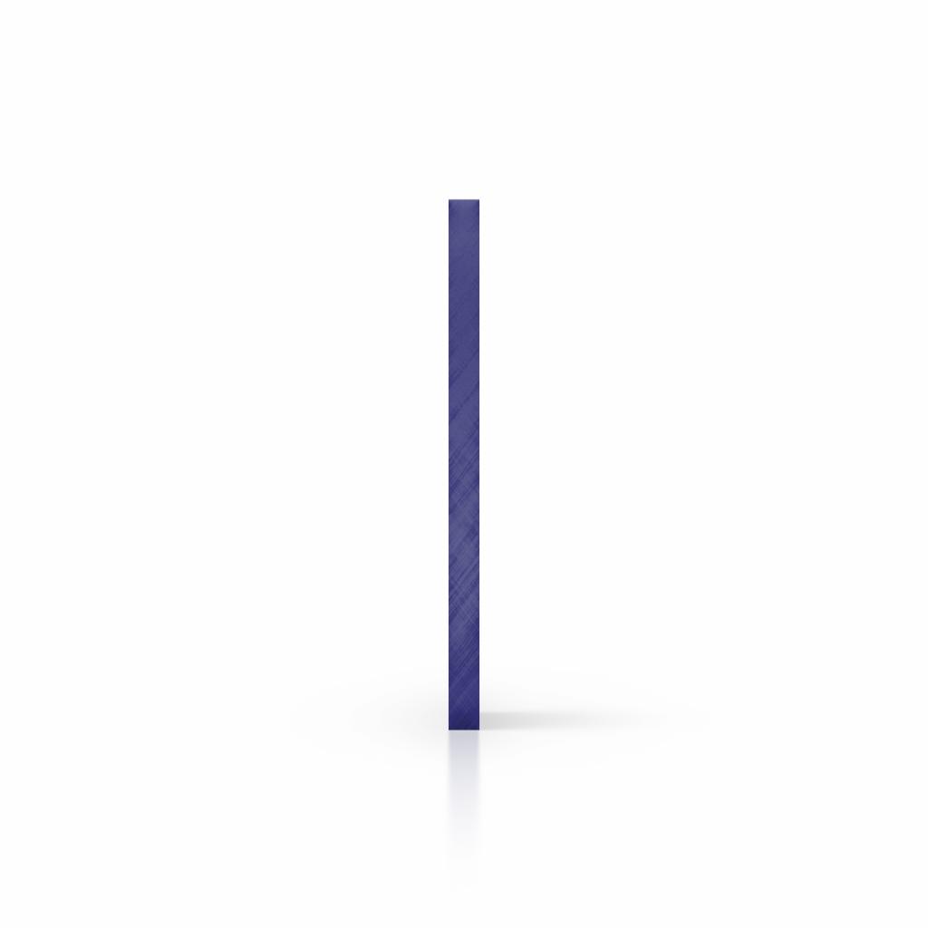 Cote plaque plexiglass miroir bleu