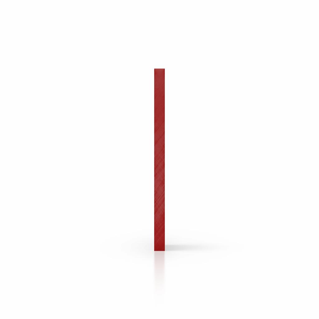 Cote plaque plexiglass miroir rouge
