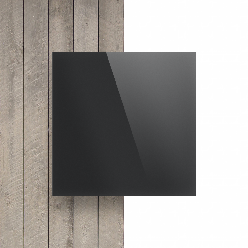 Devant plaque Plexiglass miroir anthracite