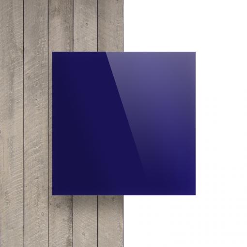 Devant plaque Plexiglass miroir bleu