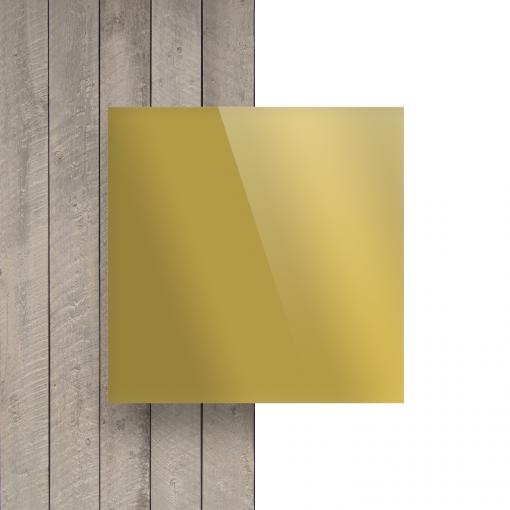 Devant plaque Plexiglass miroir or