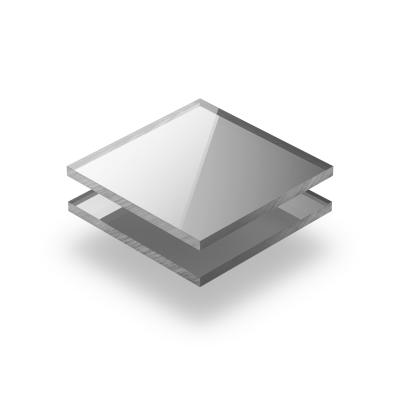 Plexiglass mirroir argent