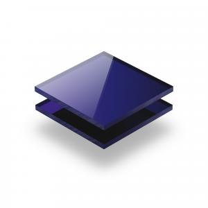 Plexiglass mirroir bleu