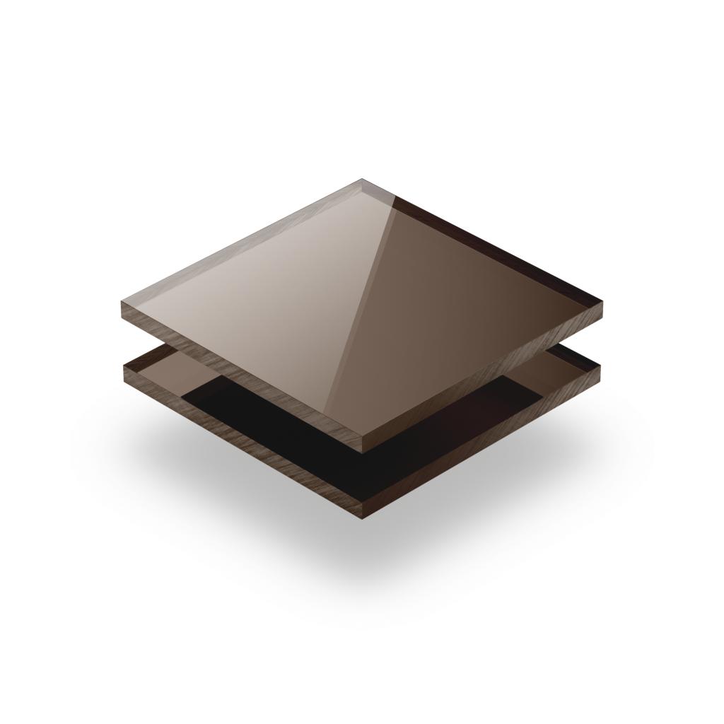 Plexiglass mirroir bronze