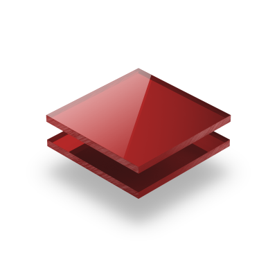 Plexiglass mirroir rouge