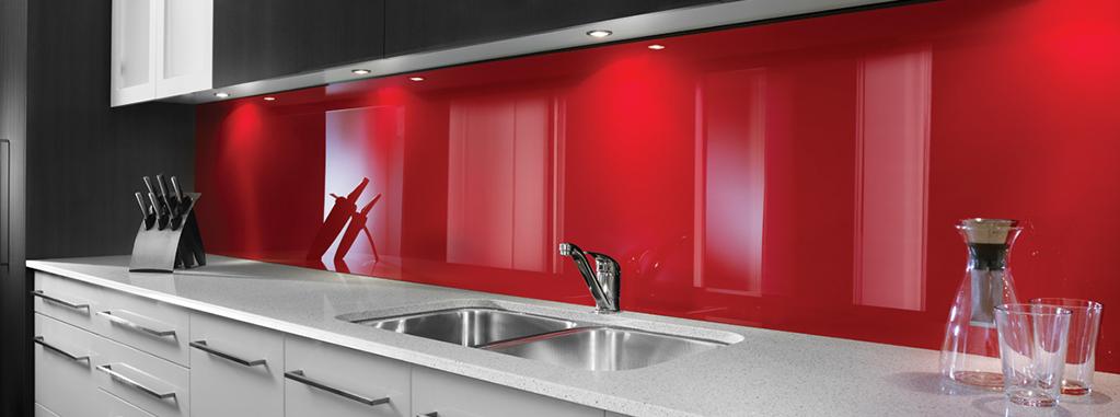 revetement mural de cuisine en plastique rouge