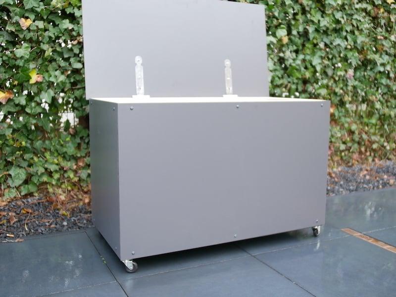 DIY boite a colis couvercle ouvert