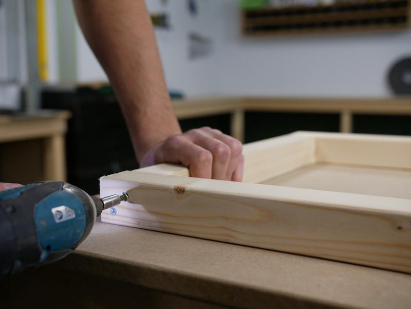 DIY boite a colis faire le cadre superieur