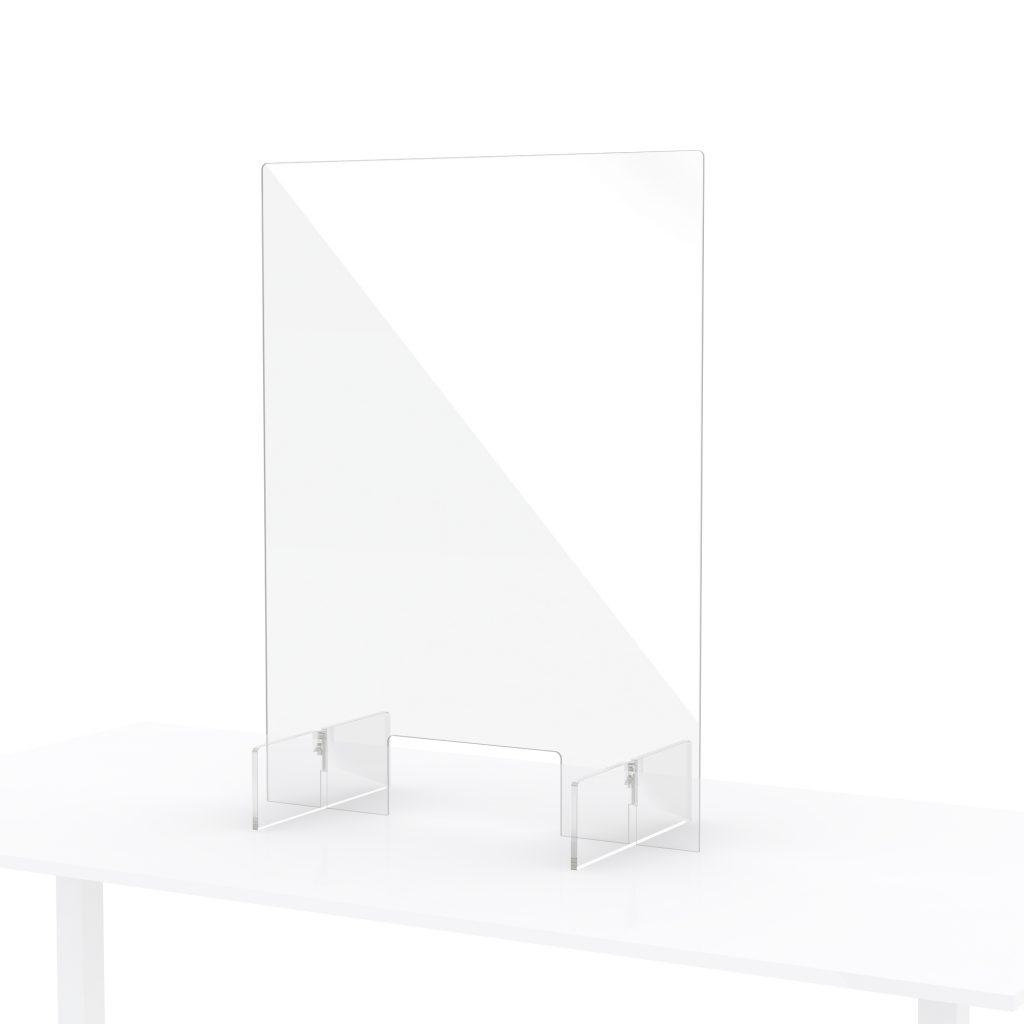 Petit ecran en plexiglass pour comptoir