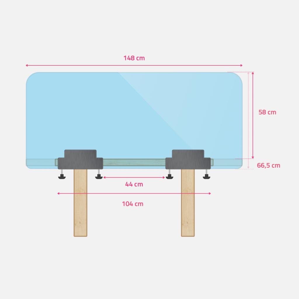 Dimensions grand ecran de bureau ou de table