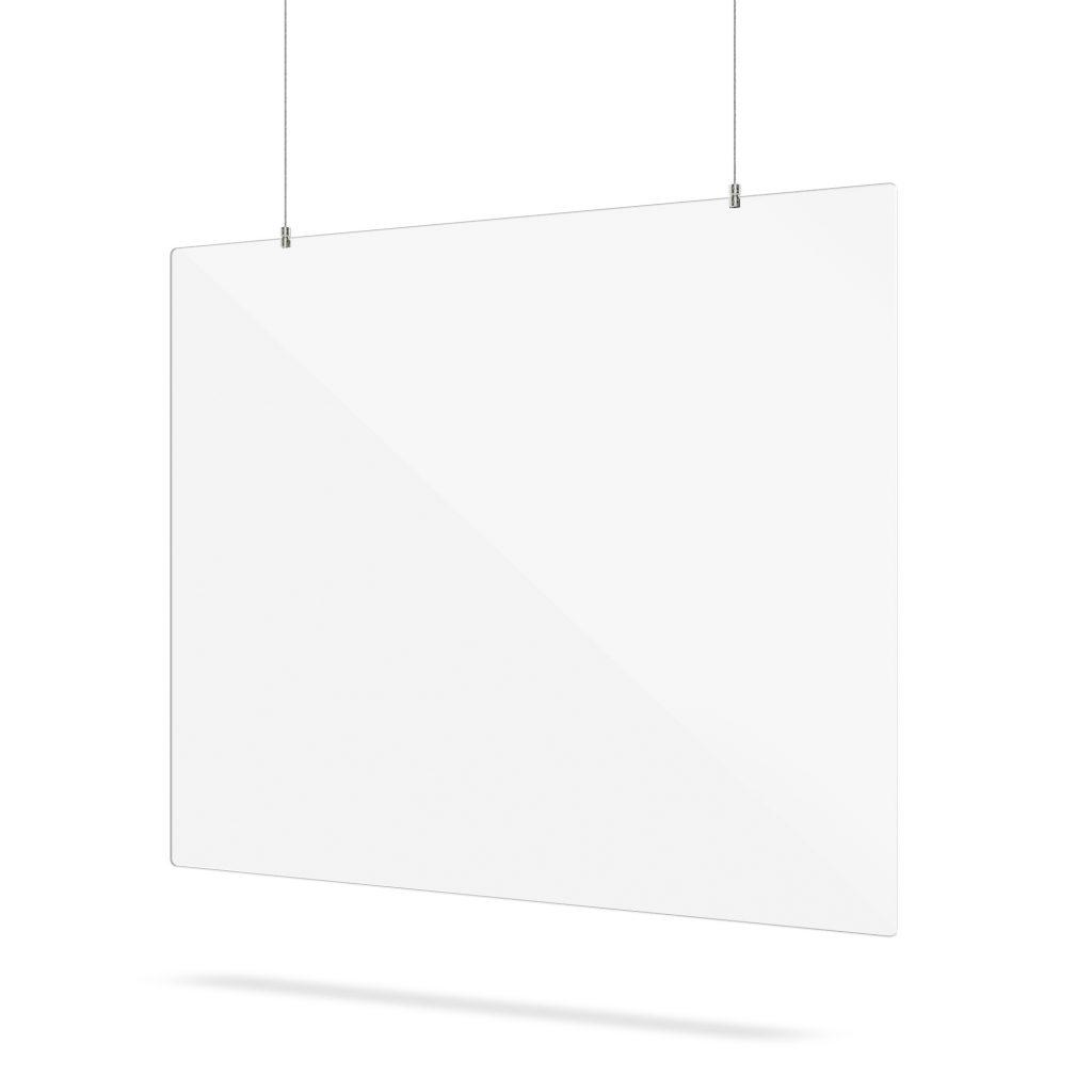 Ecran en plexiglass avec systeme de suspension