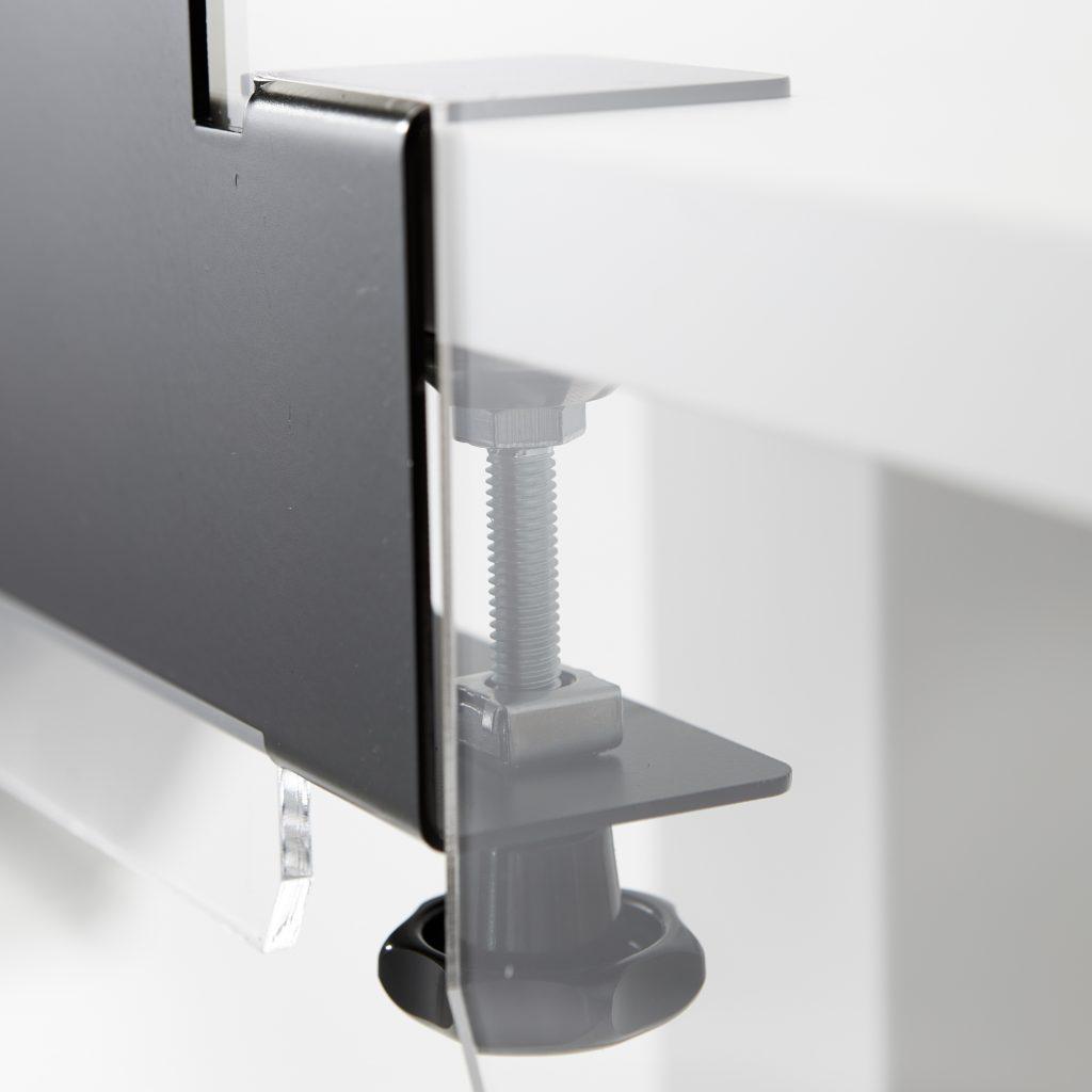 Pince de table pour plaque en plexiglass