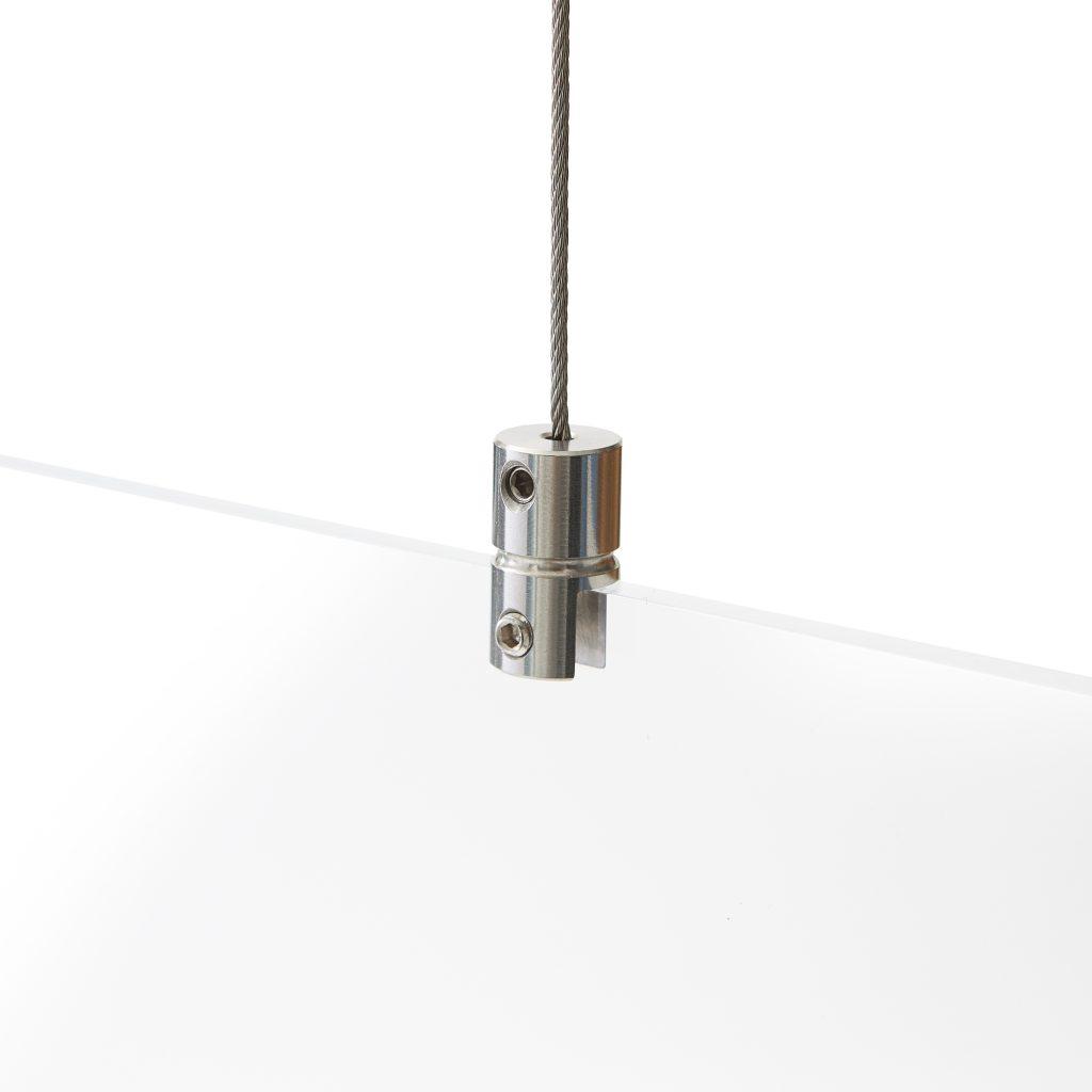 Systeme de suspension pour plexiglass sans percer