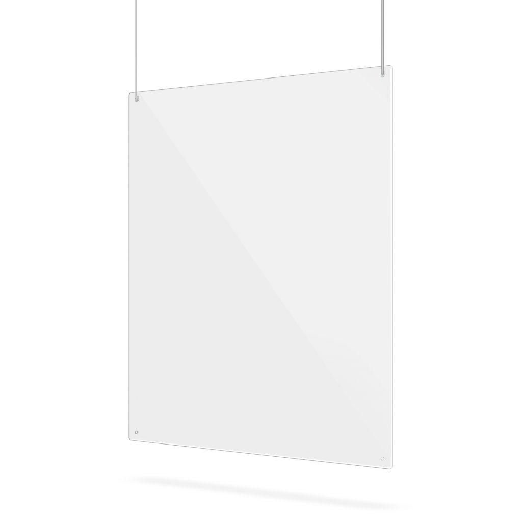 Ecran en plexiglass avec trous de suspension