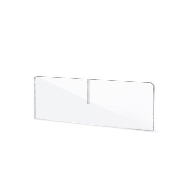 Pied en plexiglass pour ecran de protection pour comptoir
