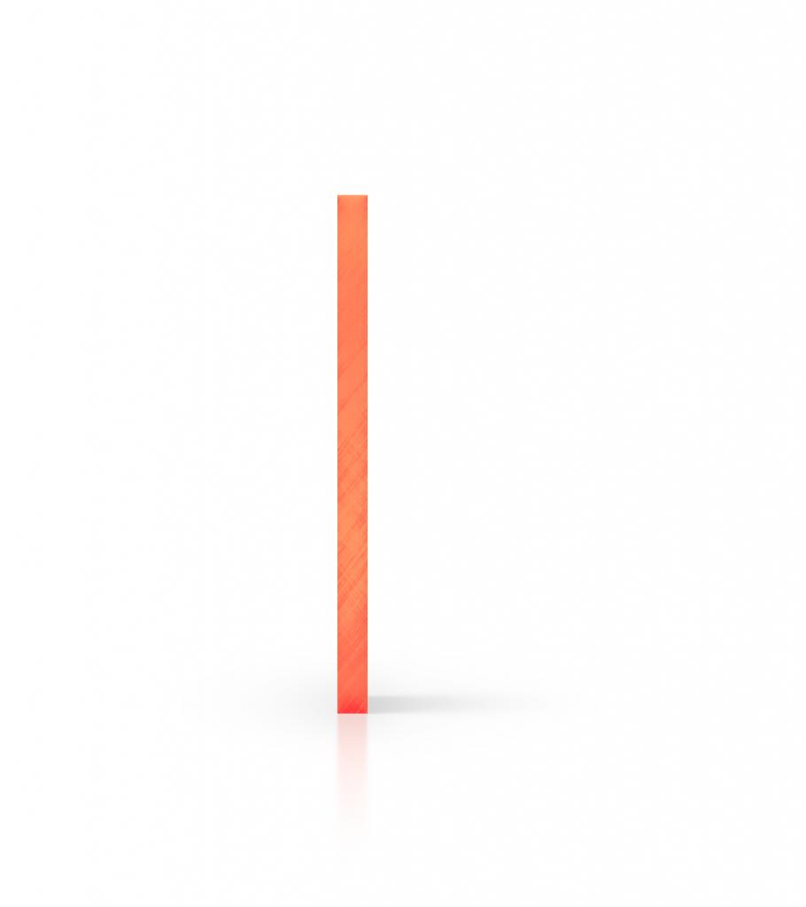 Cote plaque plexiglass fluorescent orange
