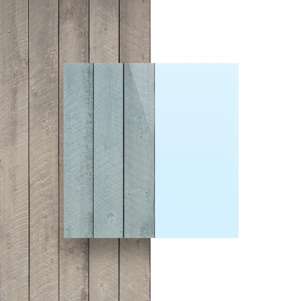 Devant plaque Plexiglass fluorescent bleu