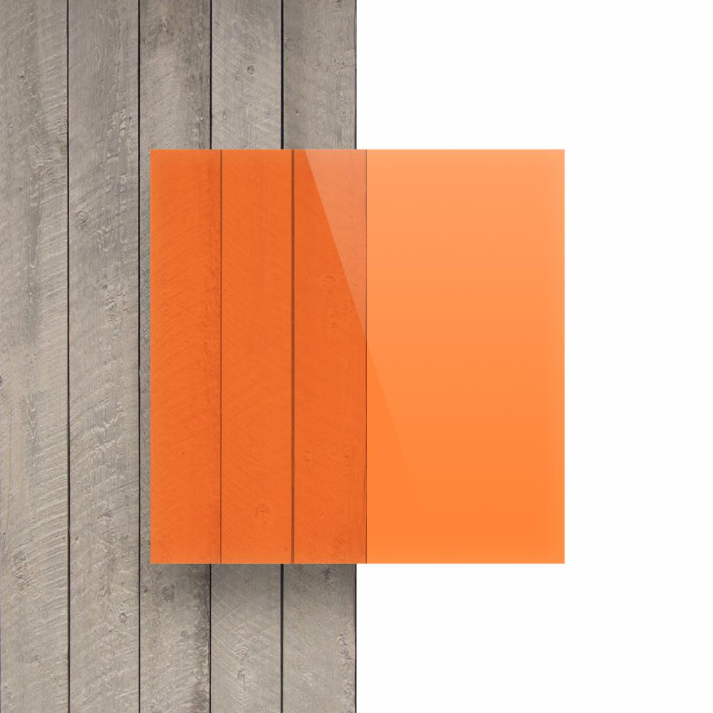 Devant plaque Plexiglass fluorescent orange