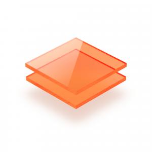 Plexiglass fluorescent orange