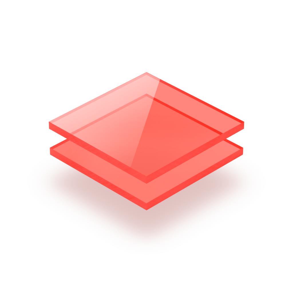 Plexiglass fluorescent rouge