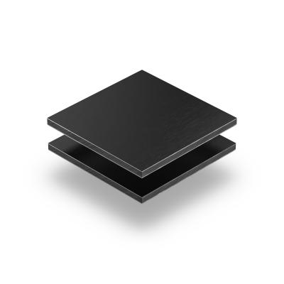 Alupanel noire brossée 3 mm