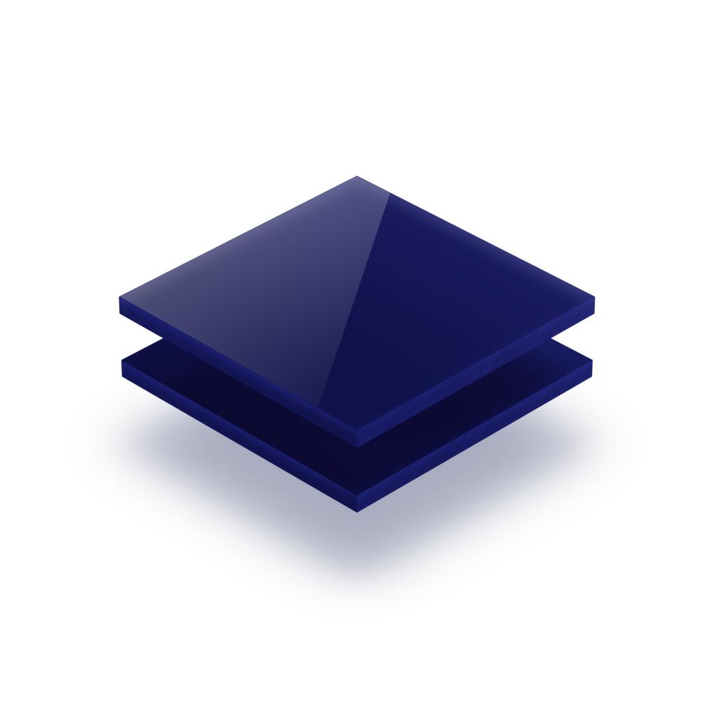 Plaque avec lettres bleu nocturne 8mm
