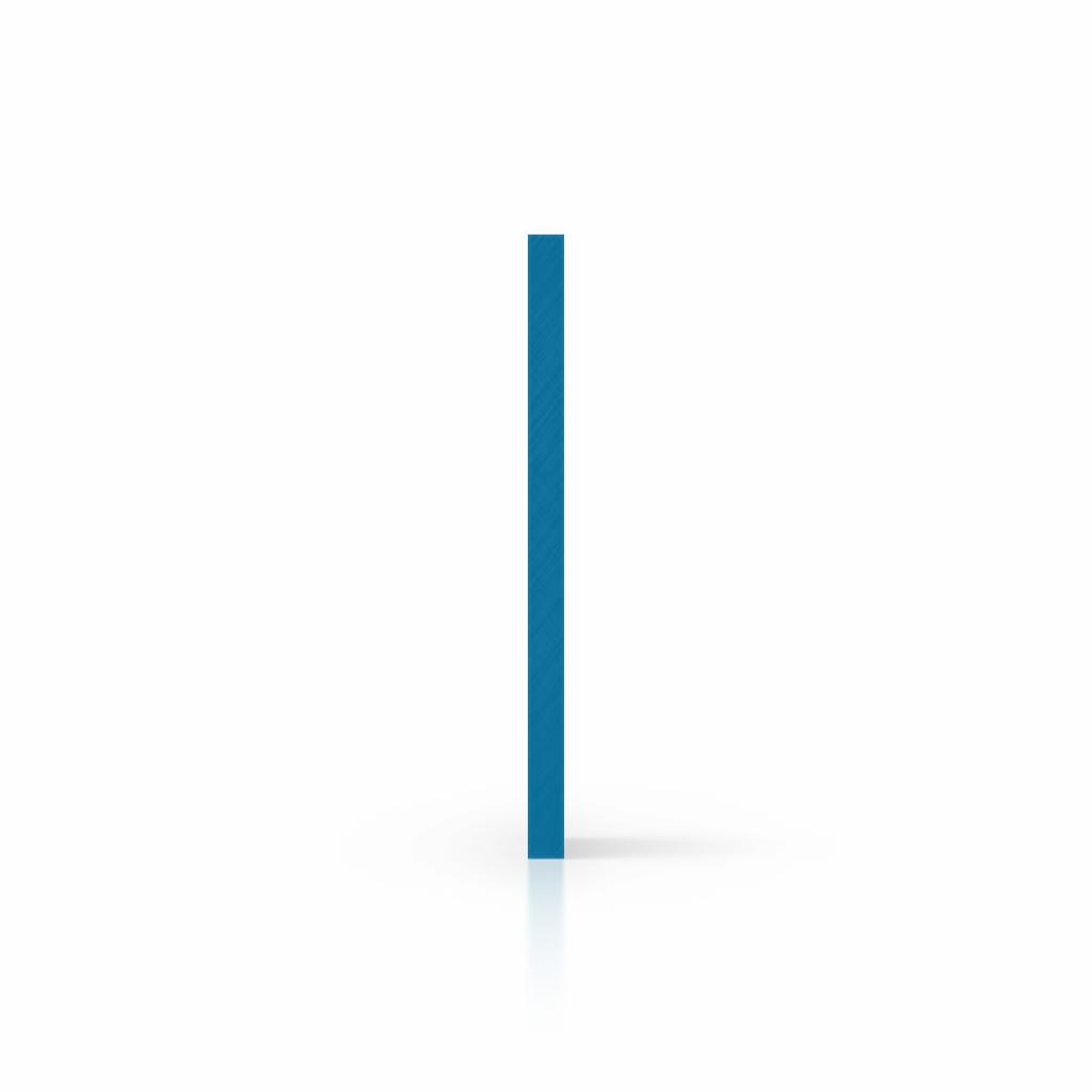 Plaque avec lettres bleu signalisation côté