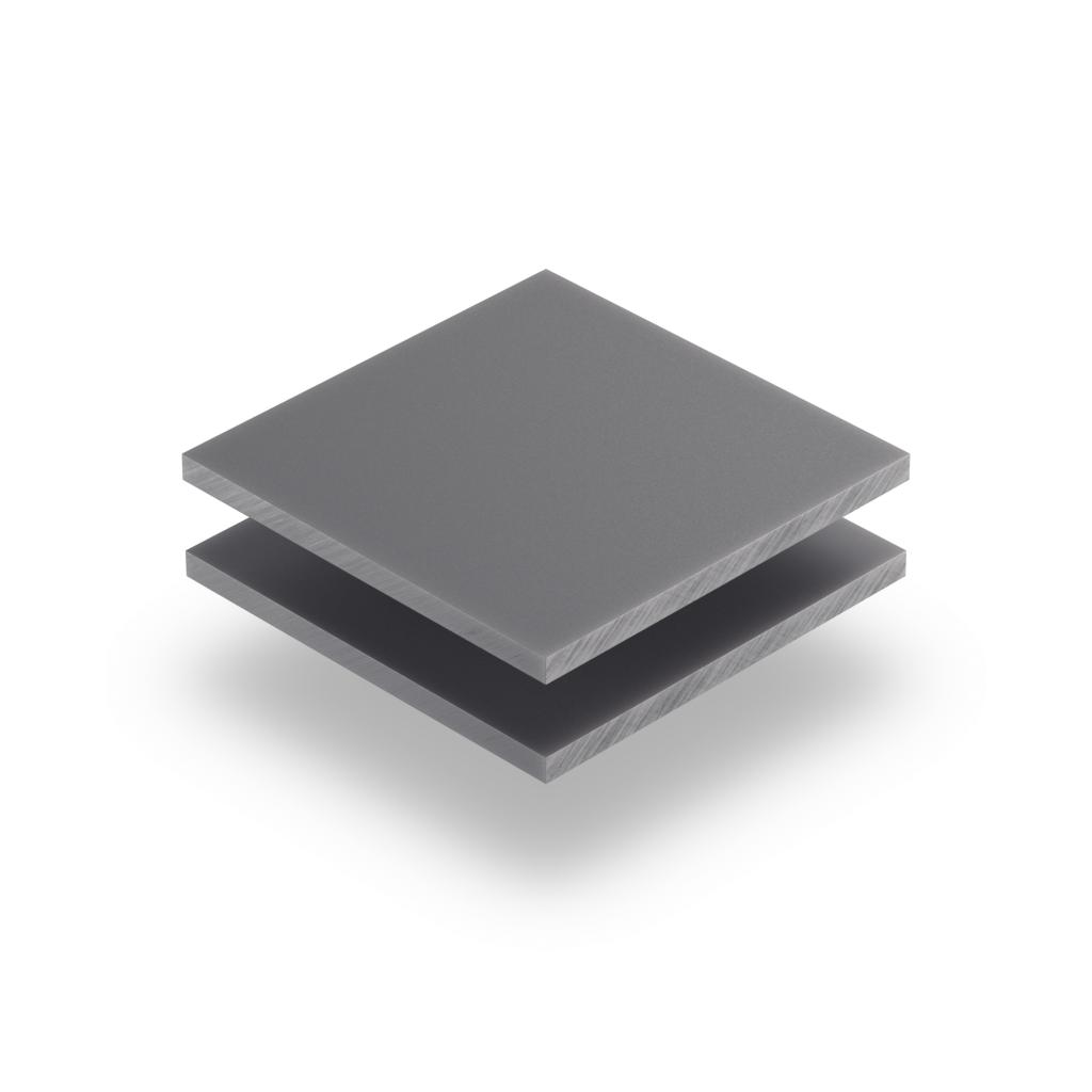 Plaque avec lettres gris 8mm
