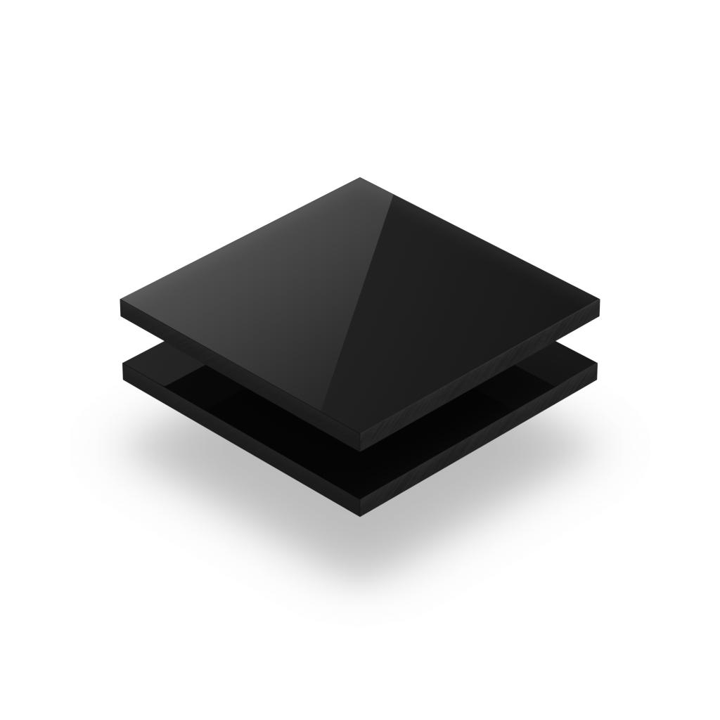 Plaque avec lettres noir 8mm