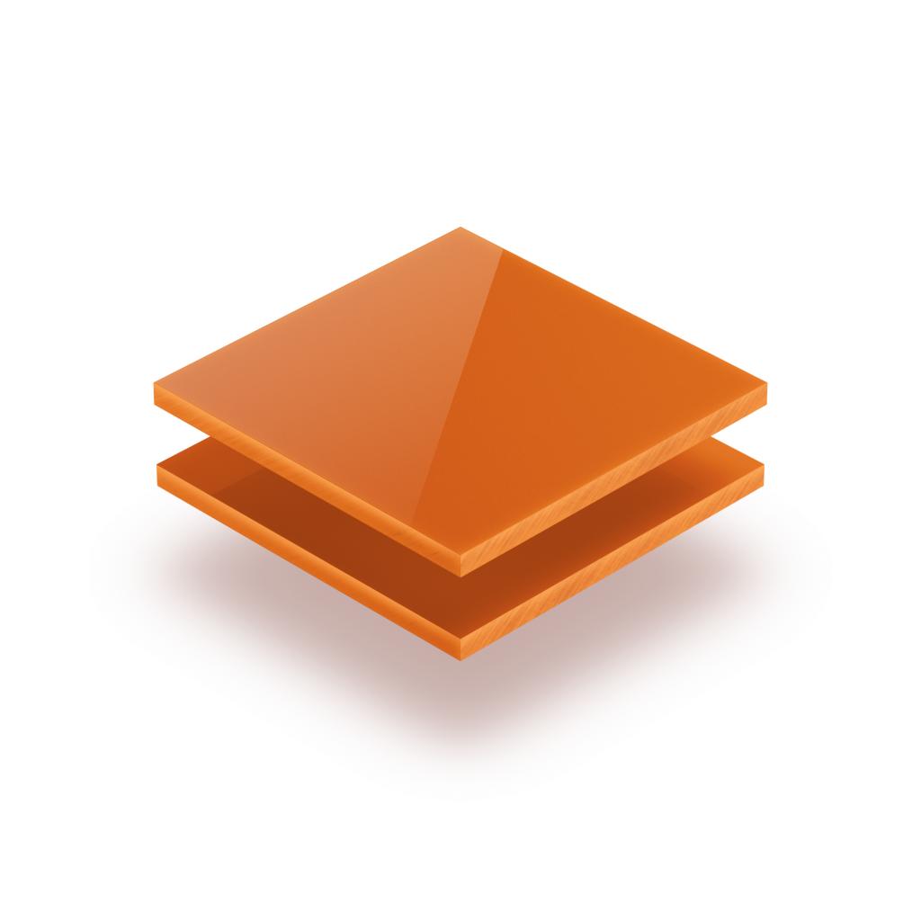 Plaque avec lettres orange 8mm