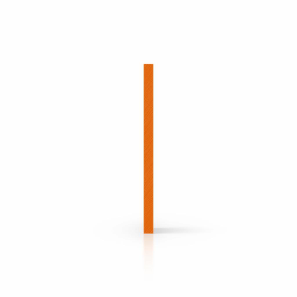 Plaque avec lettres orange côté