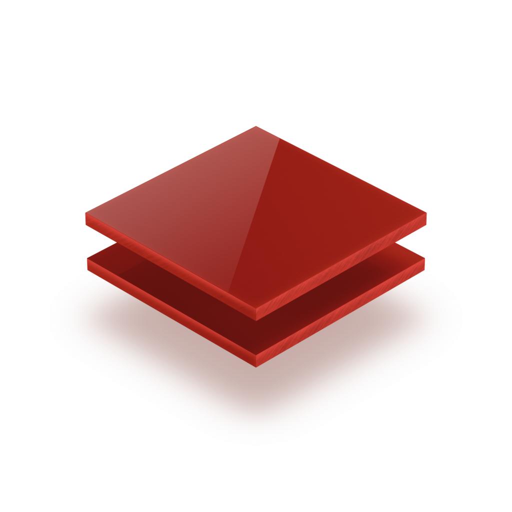 Plaque avec lettres rouge de sécurité 8mm