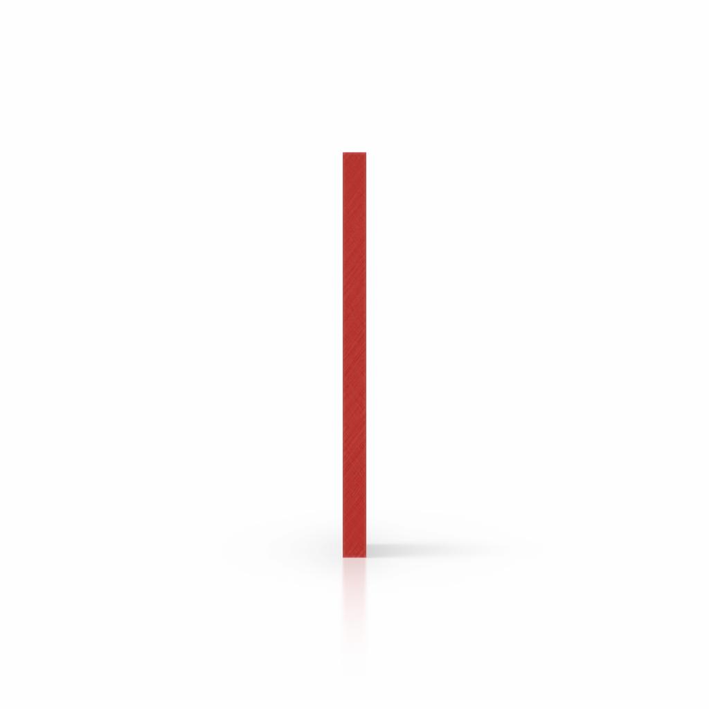 Plaque avec lettres rouge de sécurité côté