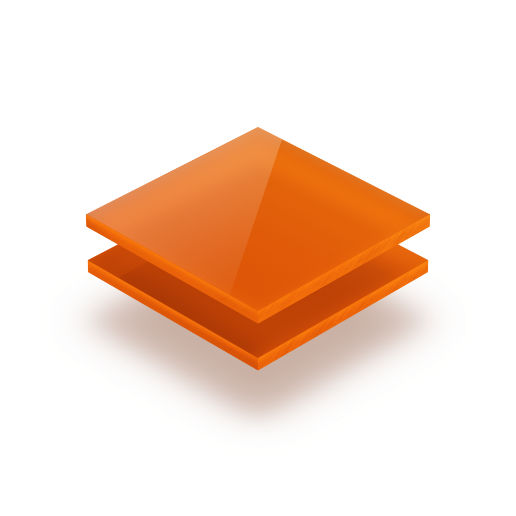 Plaque plexiglass orange opale 3mm