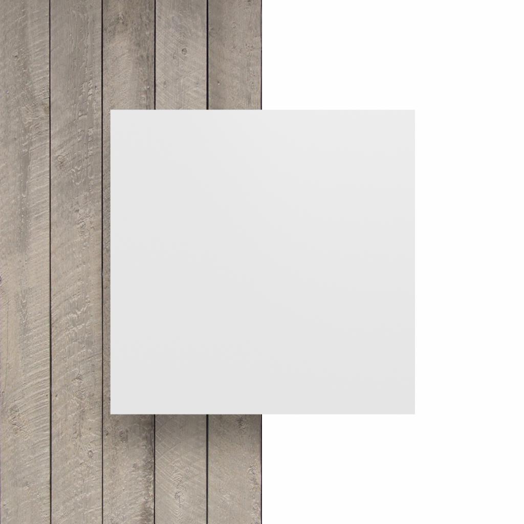 Devant plaque de lettres en acrylique blanc mat