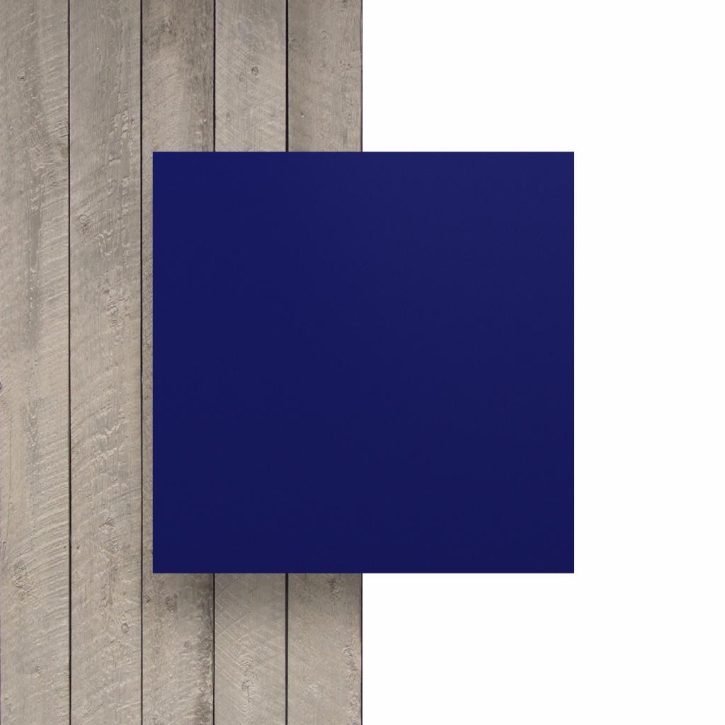 Devant plaque de lettres en acrylique bleu nocturne mat
