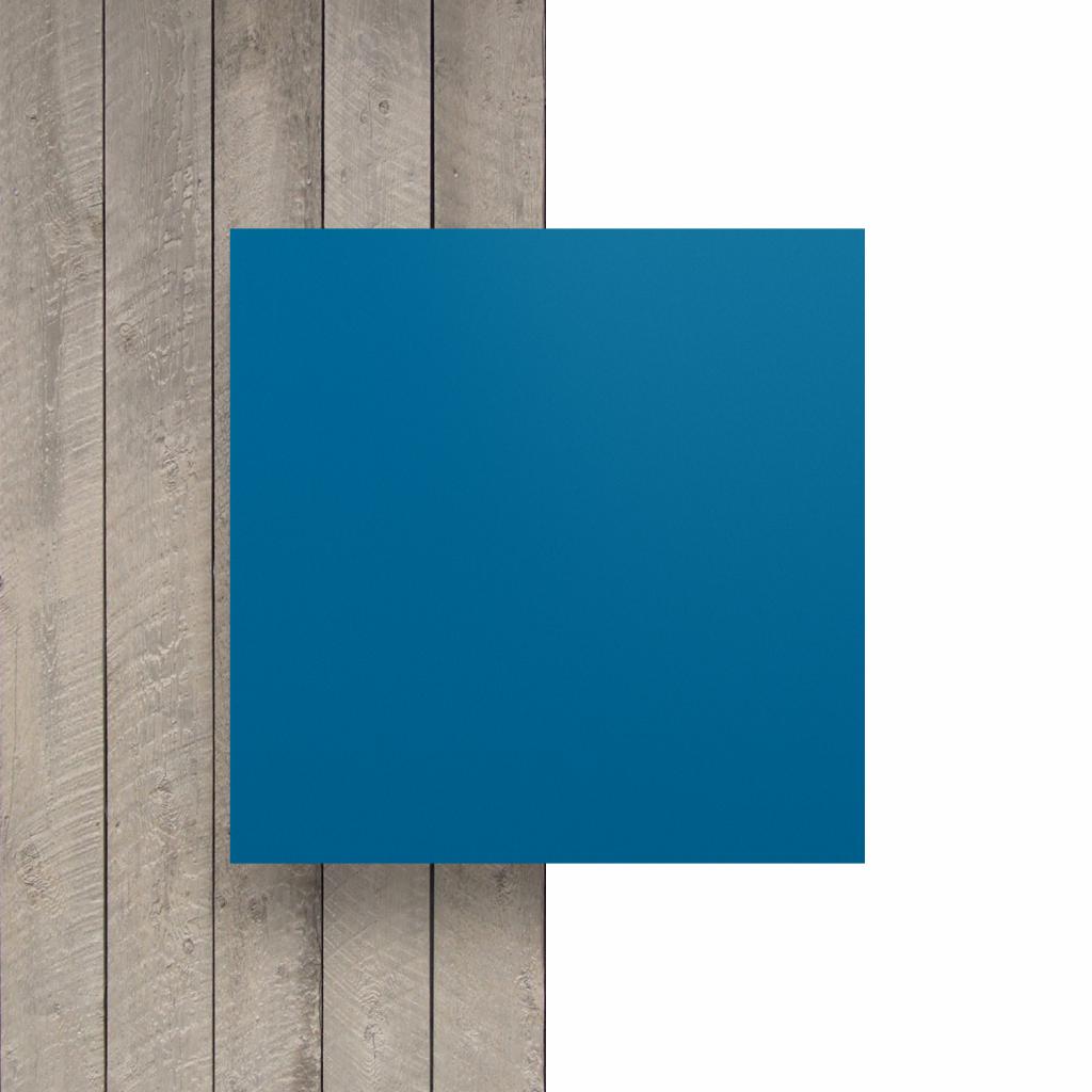 Devant plaque de lettres en acrylique bleu signalisation mat