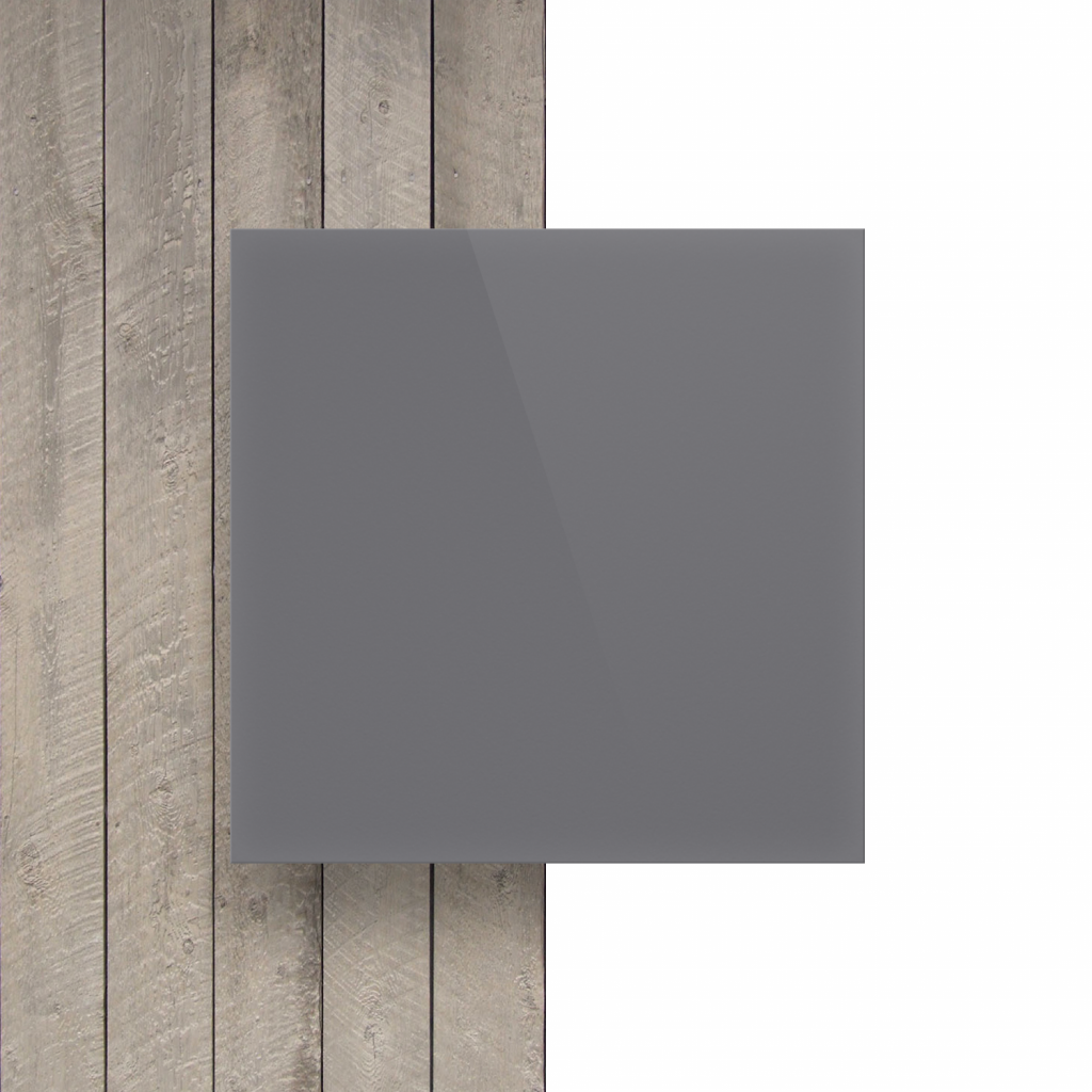 Devant plaque de lettres en acrylique gris brillant