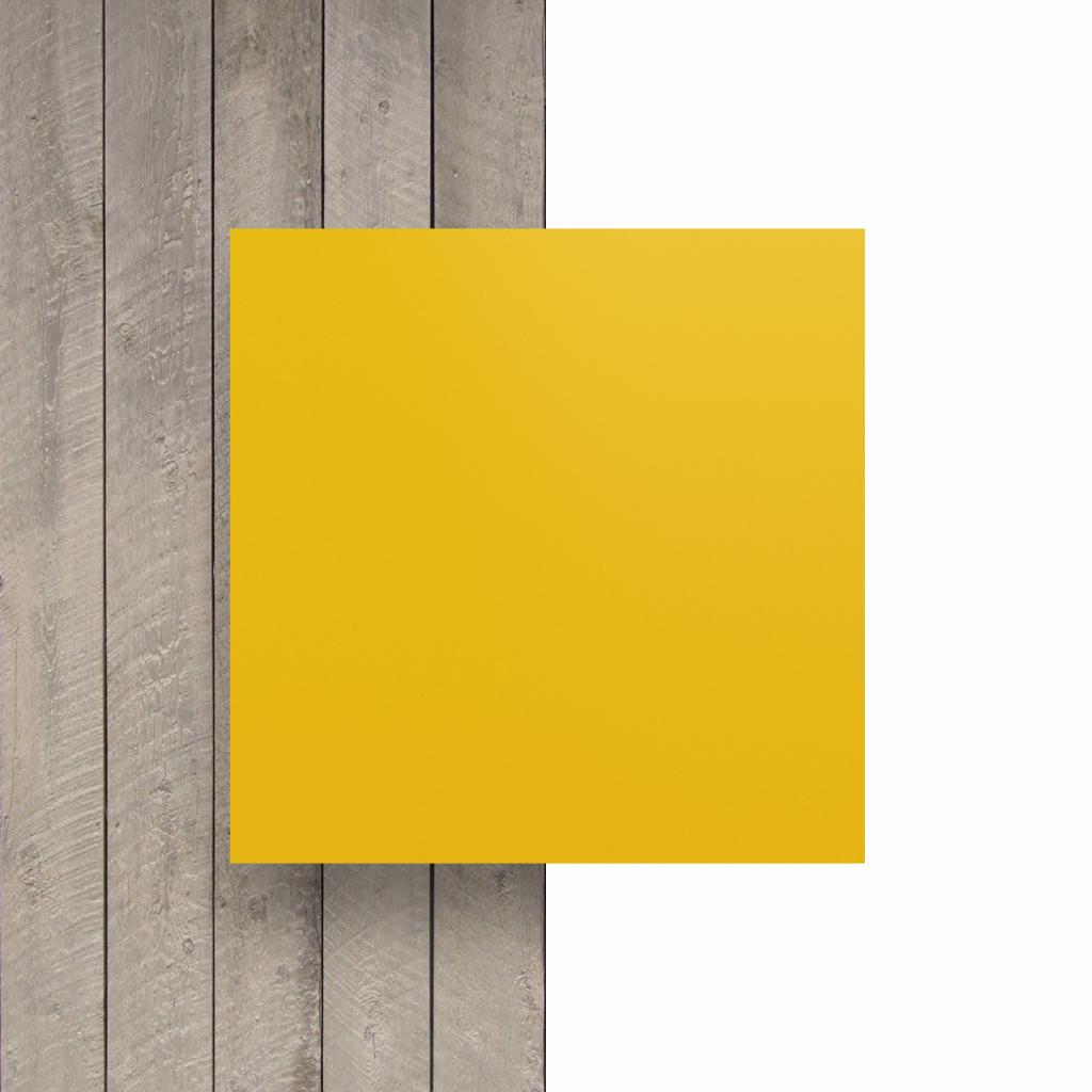 Devant plaque de lettres en acrylique jaune signalisation mat