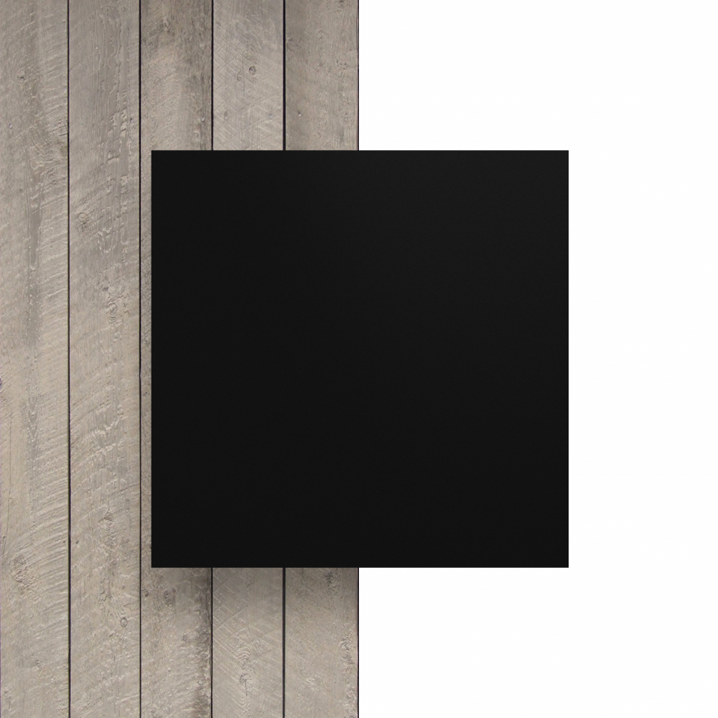 Devant plaque de lettres en acrylique noir mat